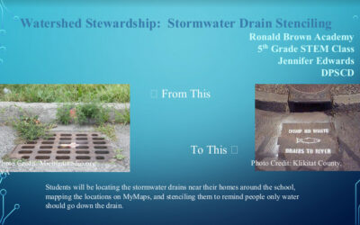 Watershed Stewardship: Stormwater Drain Stenciling