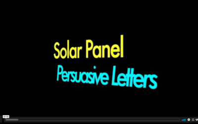 Solar Panel Persuasive Letters